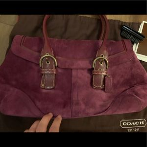 Coach suede purse